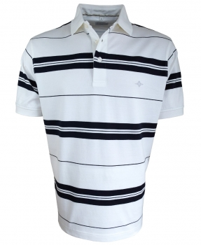 Baileys Polo Shirt STRIPES in cremeweiss marine 115251-25