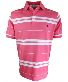 Baileys Polo Shirt STRIPES in beere weiss 115251-33