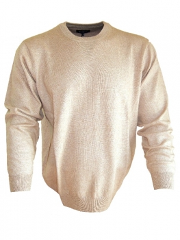 Ben Green Rundhals Pullover Classic in camel 15990-30