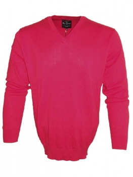 Ben Green V-Neck Pullover Classic in rot 32490-60