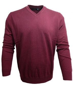 Ben Green V-Neck Pullover Classic in beere 34800-080063