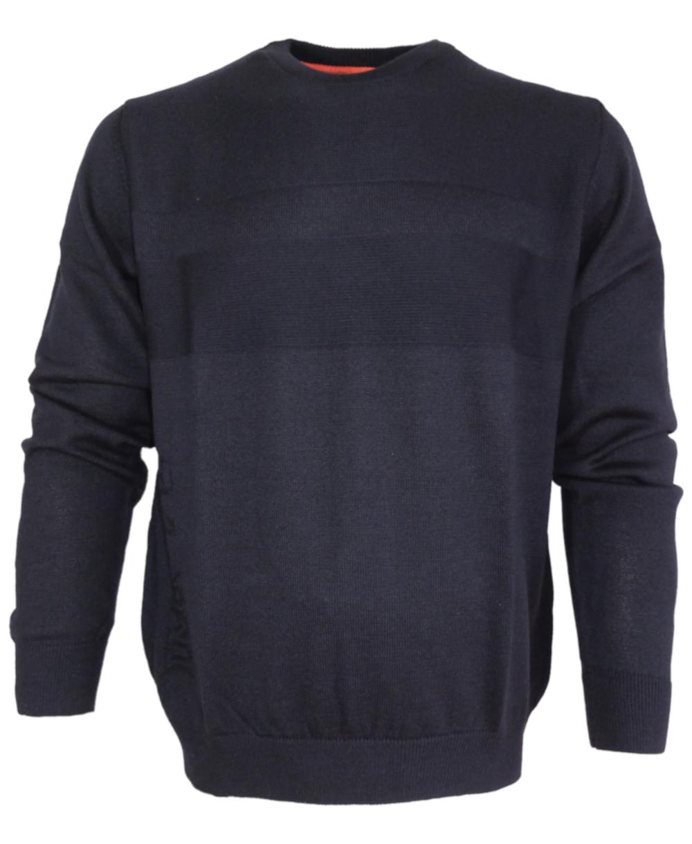 absolut stilvoll Details für wie man kauft Impulso Rundhals Strickpullover in dunkelblau 16032510Y-490