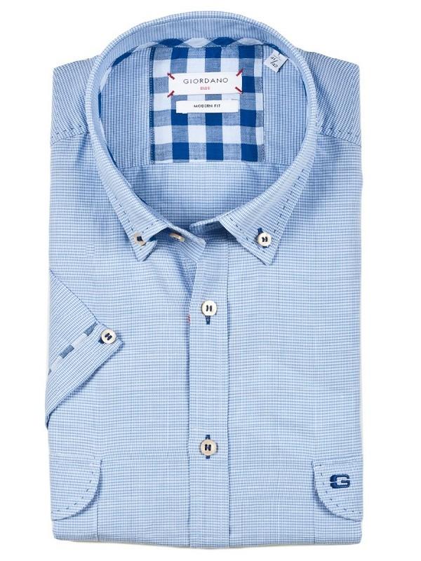 giordano kurzarm freizeithemd james in hellblau mit brusttaschen 316507 61 hochwertige. Black Bedroom Furniture Sets. Home Design Ideas